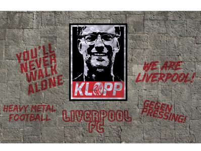 Jurgen Klopp poster illustration vectorart wallpaper poster design poster art ynwa lfc liverpool fc liverpool