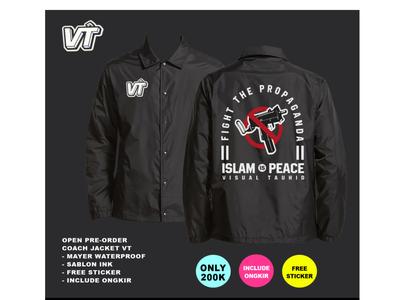 Coach Jacket Visual Tauhid kaosdakwah distrodakwah visualtauhid jacket jacketdesign tshirtdesign design muslim illustration
