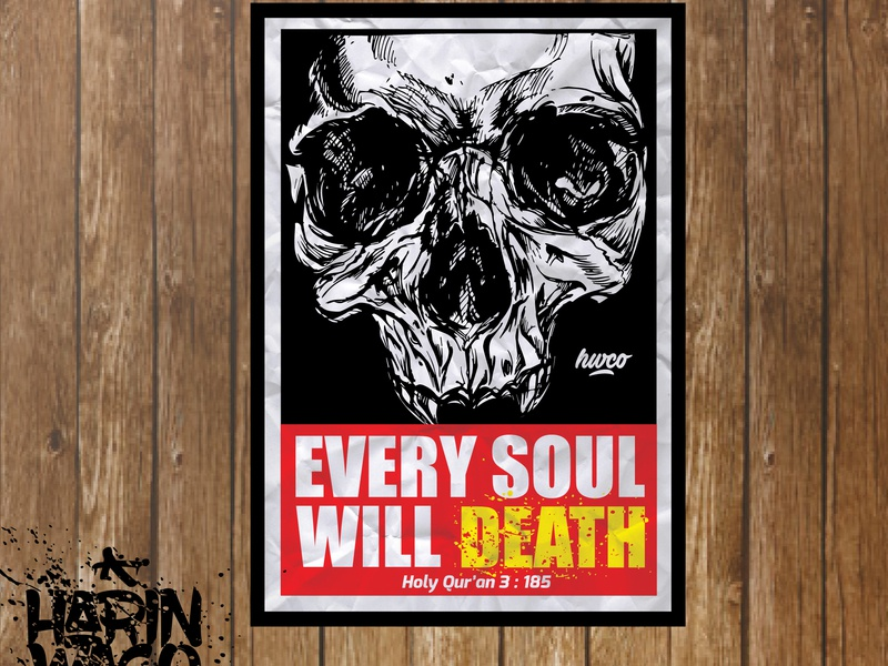 Poster of Death design islamic design poster design poster art illustration