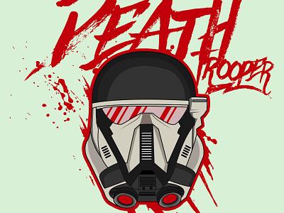 Deathtrooper Vector tshirtdesign wallpapers tracing helmet robots characters starwars skills illustration vectorart characterdesign