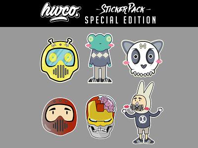 Hwco Stickerpack Special Edition sticker pack sticker design ironman illustration cartoon character vector design tshirtdesign fantasyart vectorart logodesign characterdesign