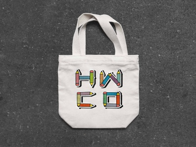 hwco sample totebag fontpack advertising colorfulfont pecilsfont typedesign fontdesign totebagdesign totebag