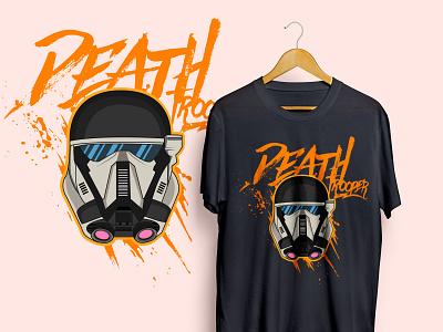 Death Trooper Vector Tshirt tshirt design character design cool cartoon helmet tshirtdesign fantasyart characterdesign vectorart illustration