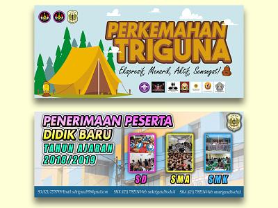 Banner Project of Triguna High School advertising student scout education school bannerdesign banner