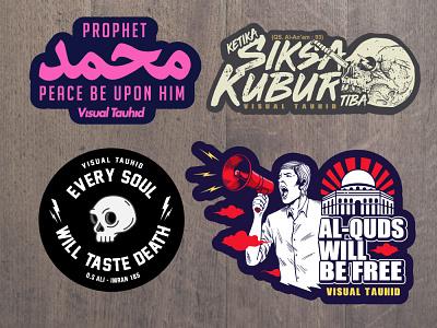 Sample Stickers for Visual Tauhid sticker art sticker design stickers visual design visualtauhid typography logo distrodakwah muslim design logodesign illustration vectorart