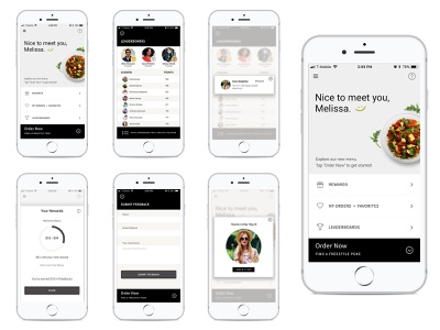 Freestyle Poke App Interface Design typography design restaurant app design ux user experience user inteface interface