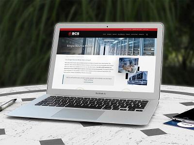BCS Website layout web design branding ux user experience website website design