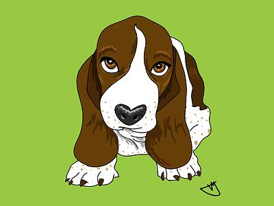 Cartoon Development digital art illustration cartoon basset hound