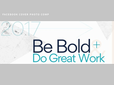 facebook comp 2017 branding minimalist simple modern muted color teal typography social cover photo facebook