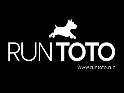 Run Toto logo design wizard of oz dog typography toto logo