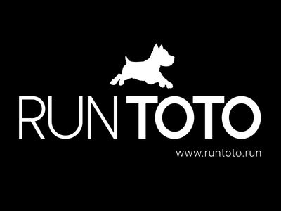 Run Toto logo design wizard of oz dog typography toto logo