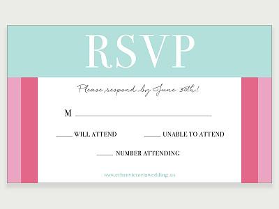 RSVP Card Design print response event wedding rsvp