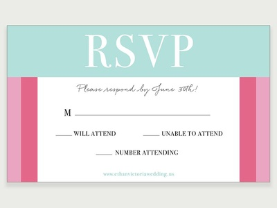 RSVP Card Design print response event wedding rsvp
