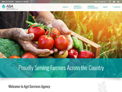 Hero Design Concept farmer web design website homepage hero agriculture concept