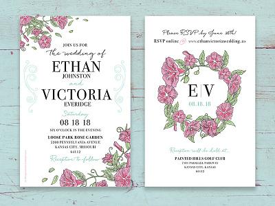 Wedding Invitation Design event invitation event design floral print invitation wedding invitation wedding