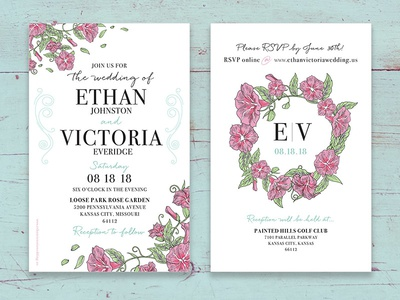 Wedding Invitation Design event invitation event design floral print invitation wedding invitation wedding