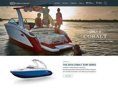 Cobalt Boats Website development ux design wordpress website design website