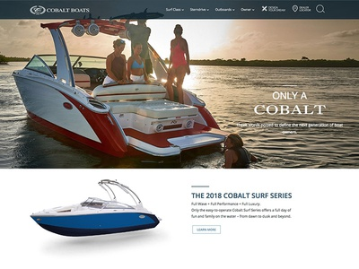 Cobalt Boats Website development ux design wordpress website design website