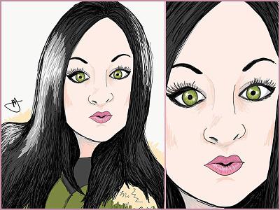 Jess Sketch Self Portait self portrait color character art cartoon art sketch and toon ipad sketch