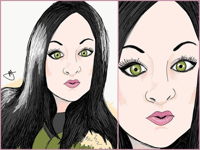 Jess Sketch Self Portait self portrait color character art cartoon art sketch and toon ipad sketch