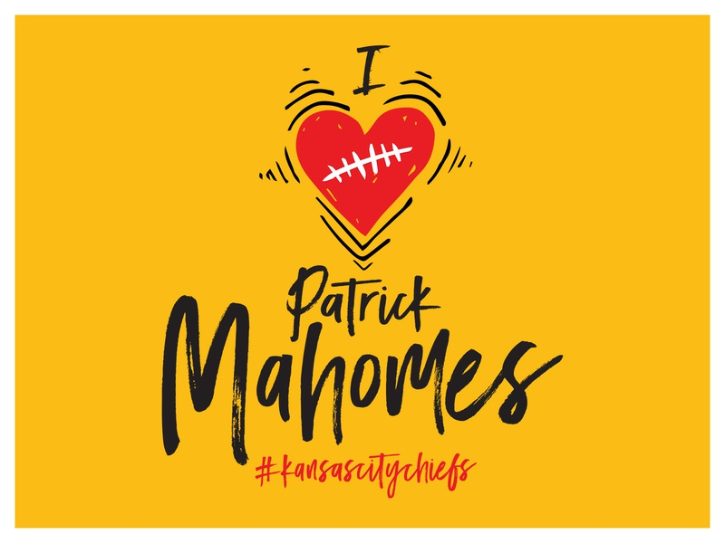 I ❤️Patrick Mahomes! Chiefs Kingdom // Kansas City color mahomes chiefs super bowl kc chiefs typography patrick mahomes kansas city chiefs football kc heart heart chiefs kingdom