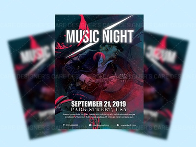 Flyer design for music night