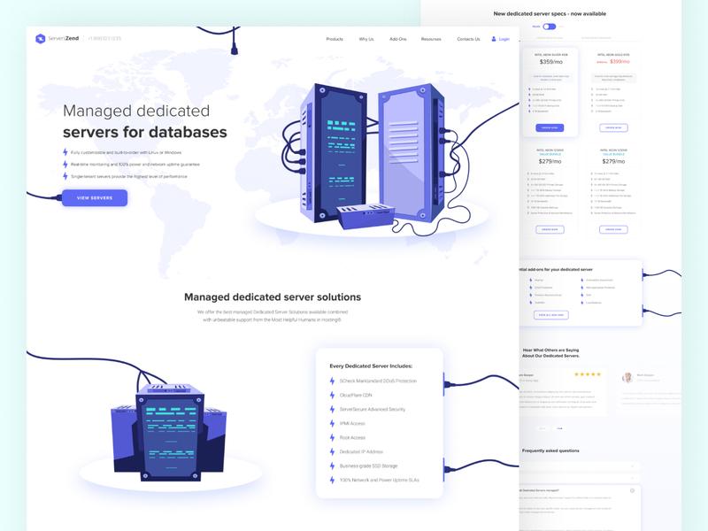 """Servers Zend"" -  Creation Web Page webpagedesign promotion servers uiuxdesign colors concept promo uiux website interface webdesign ui"