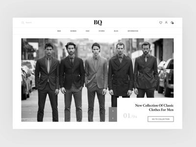 "clothing store ""BQ"" e-shop fashion ui web design website e-commerce design e-commerce shop e-commerce"
