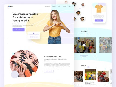 """Kolo"" charitable foundation - Creation Web Page zeroui fresh brand identity uidesign uiux ux landing landingpage logo webdesign colors concept ui"