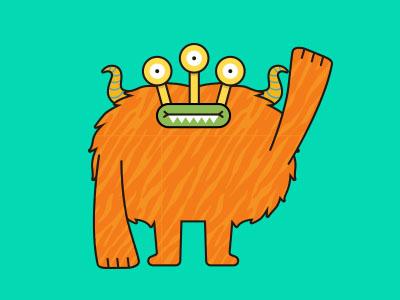 Monsticky Orange Monster