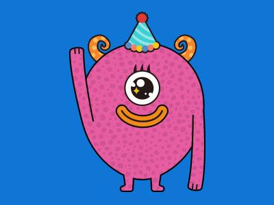 Monsticky Pink Monster