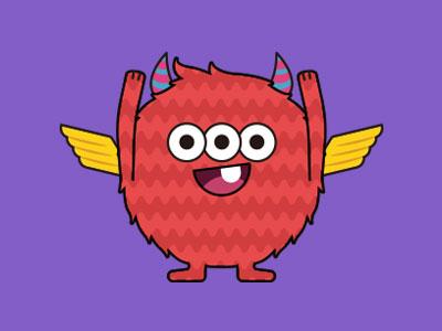 Monsticky Red Monster
