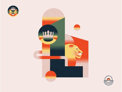 L is for Lion 🦁Wizard of OZ Event Illustration ecommerce spatial event advertising editorial illustration event design texture cape town branding south africa gradient color illustration