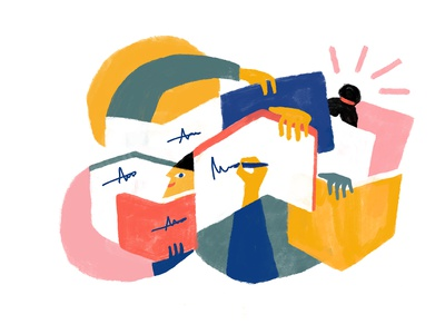 Rapid Book Signing - Editorial Illustrations gradient illustration travel texture spain italy editorial illustration design communication color