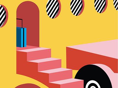 Now Boarding branding vector communication color aesthetic editorial illustration editorial illustration animation 3d aeroplane