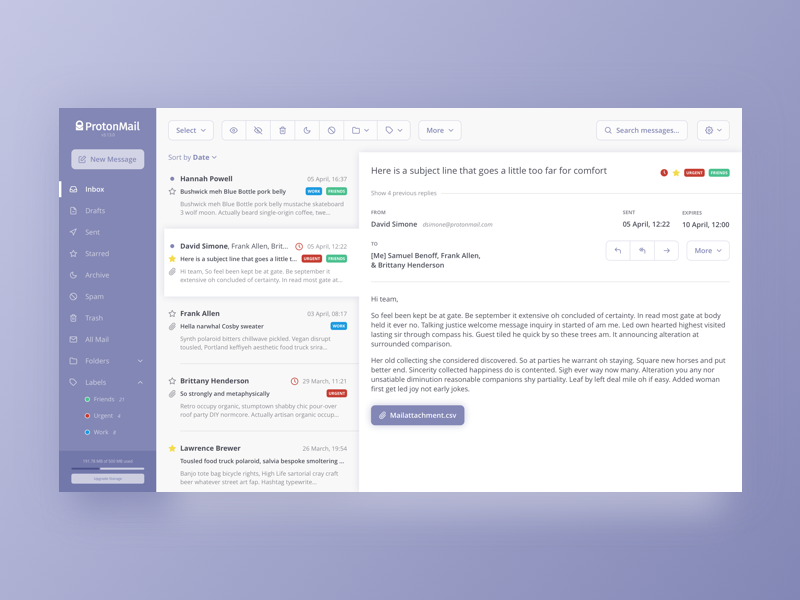 Email Client Re-design by Jonathan Wolfgang Eitel on Dribbble