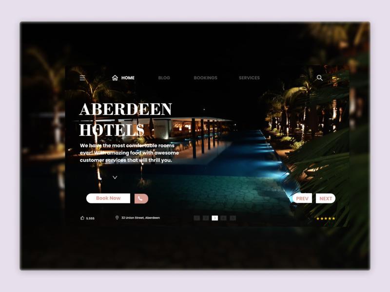 Aberdeen City Resort website landing page tourism travel