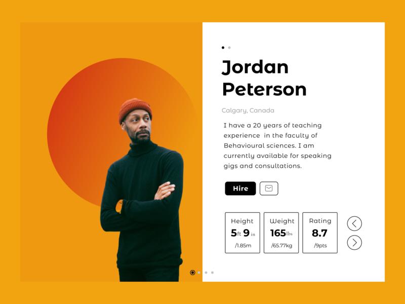 Profile page job figma profile card profile page