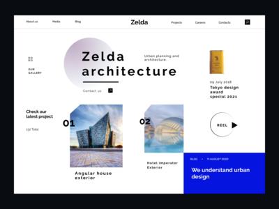 Zelda Angular  Architecture blog website design branding website