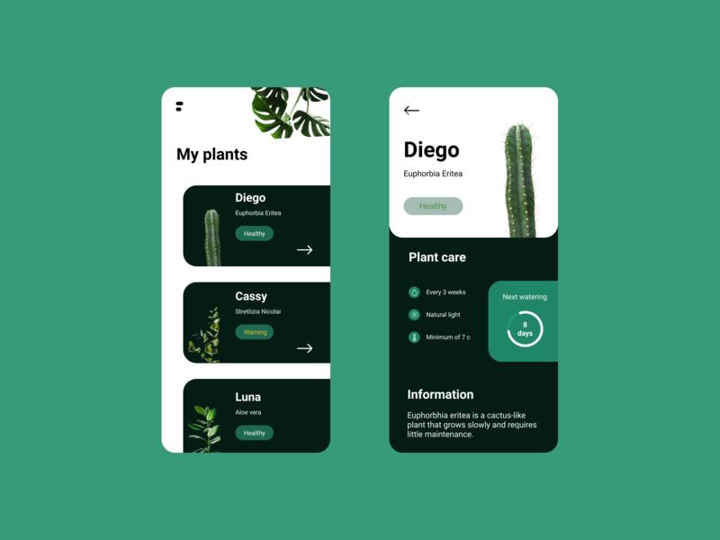 Practice Exercise figma design ux ui illustration product page app mobile app design plants