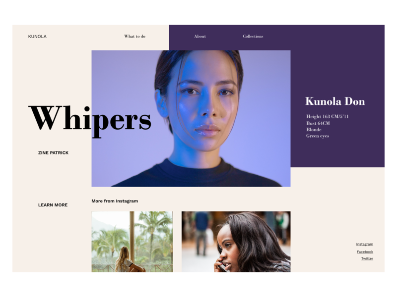Whispers product page beauty website design design ux ui website blog magazine design magazine cover