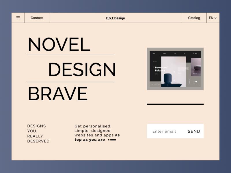 E.S.T.Design design catalog design portfolio typography website design illustration product page figma ux ui website
