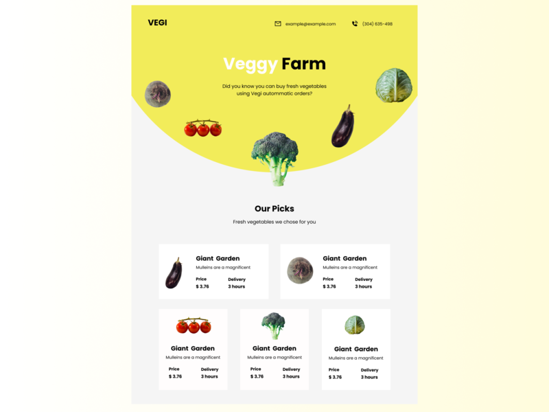 VEGI - Fresh vegetable farm app app figma design ui website website design ux mobile app design product page