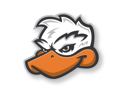 Ducks Baseball baseball mascot logo branding illustration duck