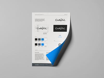 Oakfold brand guidelines font designer brand design logo design logo font design design branding typography brand guide identity