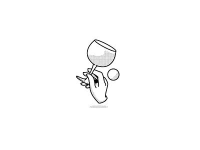 Let's have a drink. Logomark branding design logo