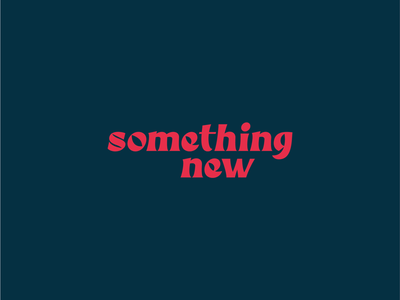 Something New - Type Design font design typography graphic design type design
