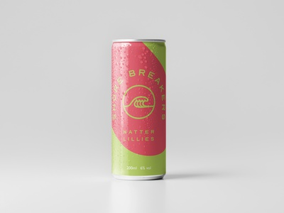 Watter Lillies Can design bold color bold logo canned cocktail summer drink brand package design can art drinks brand alcohol packaging alcohol branding cocktail brand cocktail can mockup can design logo typography branding