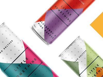little something can design bold color alcohol packaging hard seltzer label design geometric design minimal logo clean logo can design