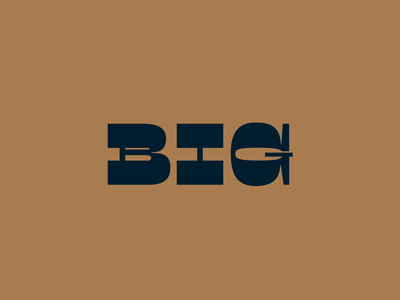 BIG Bourbon Logotype Design and Bottle Label 36 days of type design logo lettering font design typography whiskey branding branding font designer luxury logo design logo designer logotype type design logo design bourbon branding